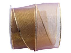 Goldband Transparente gold / lila 65mm mit Draht