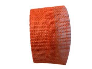 Jute orange ohne Draht 70mm