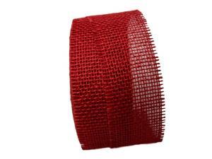 Jute rot ohne Draht 70mm