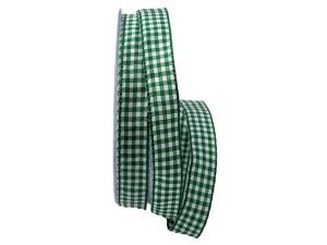 Karoband Landhauskaro grün 15mm ohne Draht