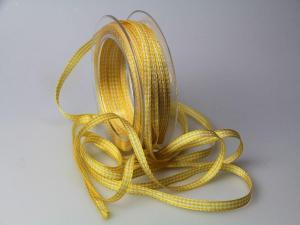 Karoband Landhauskarobändchen Gelb ohne Draht 6mm