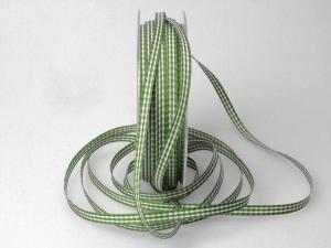 Karoband Landhauskarobändchen Grün ohne Draht 6mm
