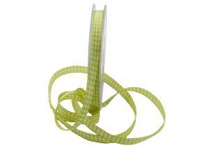Karoband Landhauskarobändchen Hellgrün ohne Draht 10mm