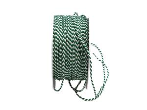 Kordel grün / weiß ohne Draht 2mm
