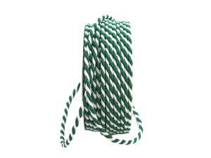 Kordel grün / weiß ohne Draht 4mm