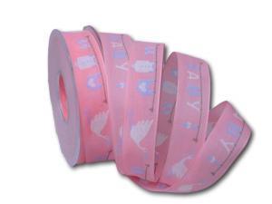 Motivband Baby rosa 25mm mit Draht