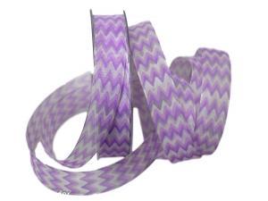 Motivband Modern Waves flieder 25mm mit Draht - Schleifenband günstig online kaufen!