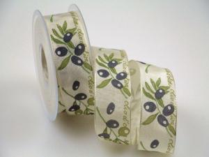 Motivband Olivenband Olive mit Draht 40mm