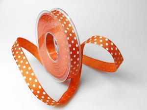 Motivband Punkteband orange mit Draht 15mm