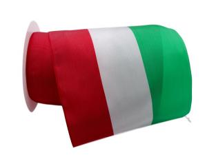 Nationalband Italien 155cm rot / weiß / grün ohne Draht