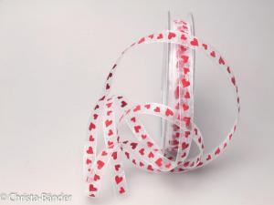 Organza Herz 10 mm ohne rot Draht