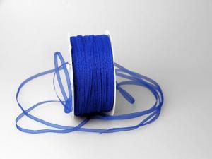 Organzabändchen 3mm blau ohne Draht