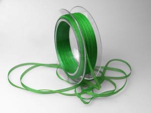 Organzabändchen 3mm grün ohne Draht