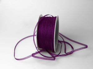 Organzabändchen 3mm lila ohne Draht