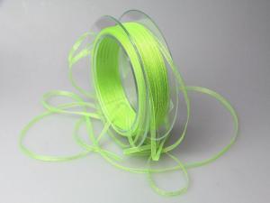 Organzabändchen 3mm hellgrün ohne Draht
