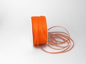 Organzabändchen 3mm orange ohne Draht