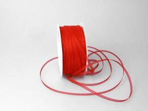 Organzabändchen 3mm rot ohne Draht