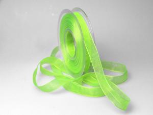 Organzaband 15mm hellgrün ohne Draht - Schleifenband günstig online kaufen!