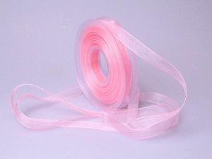 Organzaband 15mm rosa ohne Draht