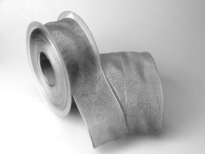 Organzaband 40mm grau ohne Draht - Schleifenband günstig online kaufen!