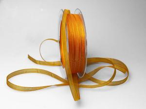Organzaband 6mm gelb dunkel ohne Draht - Geschenkband günstig online kaufen!