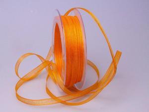 Organzaband 6mm orange hell ohne Draht - Schleifenband günstig online kaufen!
