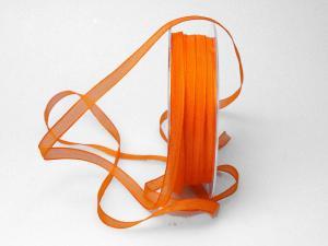Organzaband 6mm orange ohne Draht