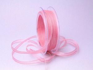 Organzaband 6mm rosa  ohne Draht - Schleifenband günstig online kaufen!