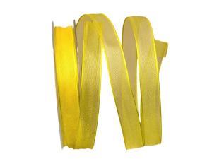Organzaband gelb 15mm mit Draht