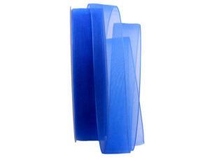 Organzaband Luminoso blau 25mm ohne Draht