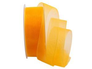 Organzaband Luminoso gelb 40mm ohne Draht - Schleifenband günstig online kaufen!