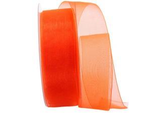 Organzaband Luminoso orange 40mm ohne Draht - Schleifenband günstig online kaufen!