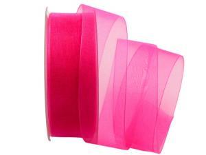 Organzaband Luminoso pink 40mm ohne Draht - Schleifenband günstig online kaufen!