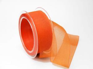 Organzaband Orange ohne Draht 40mm