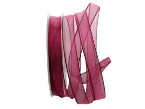 Organzaband pink 15mm mit Draht