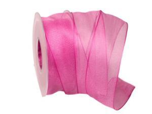 Organzaband pink 40mm mit Draht - Schleifenband günstig online kaufen!