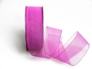 Organzaband pink ohne Draht 40mm - Dekoband günstig online kaufen!