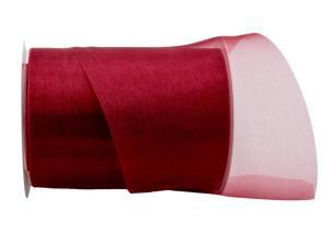 Organzaband Tischband bordeaux ca. 120mm ohne Draht