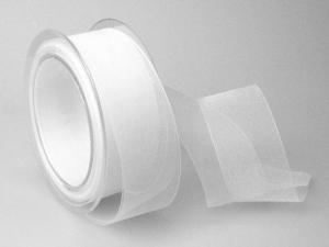 Organzaband Weiß ohne Draht 40mm