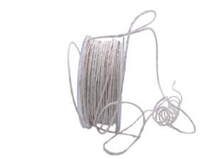 Papierkordel Weiß-Creme mit Draht 2mm