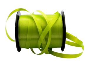 Polyband Apfelgrün ohne Draht 5mm