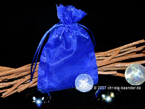 Organzasäckchen 7,5 x 10cm Blau 10 Stück