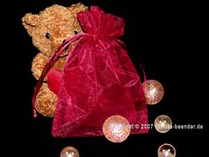 Organzasäckchen 12,5 x 17,5cm Bordeaux 10 Stück