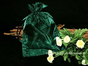 Organzasäckchen 12,5 x 17,5cm Dunkelgrün 10 Stück