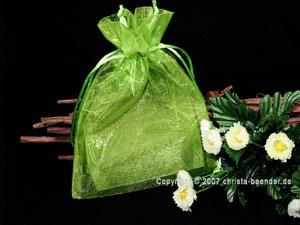Organzasäckchen 7,5 x 10cm Hellgrün 10 Stück