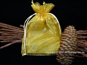 Organzasäckchen 7,5 x 10cm Honig 10 Stück