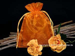 Organzasäckchen 7,5 x 10cm Orange 10 Stück