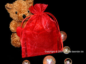 Organzasäckchen 7,5 x 10cm Rot 10 Stück