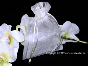 Organzasäckchen 7,5 x 10cm weiß 10 Stück