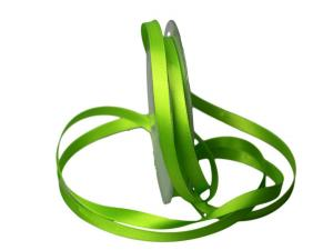 Satinbändchen Hellgrün ohne Draht 10mm
